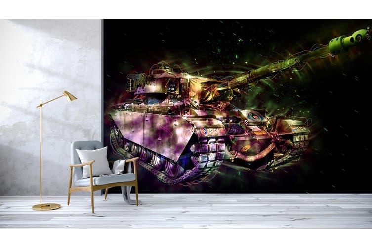 3D Color Tank 214 Vehicle Wall Murals Wallpaper Murals Woven paper (need glue), XL 208cm x 146cm (WxH)(82''x58'')