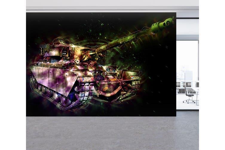 3D Color Tank 214 Vehicle Wall Murals Wallpaper Murals Woven paper (need glue), XXXL 416cm x 254cm (WxH)(164''x100'')
