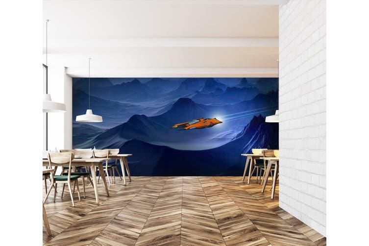 3D Spaceship Mountain 211 Vehicle Wall Murals Wallpaper Murals Self-adhesive Vinyl, XXXXL 520cm x 290cm (WxH)(205''x114'')