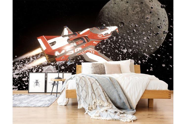 3D Spaceship Planet 208 Vehicle Wall Murals Wallpaper Murals Self-adhesive Vinyl, XXL 312cm x 219cm (WxH)(123''x87'')