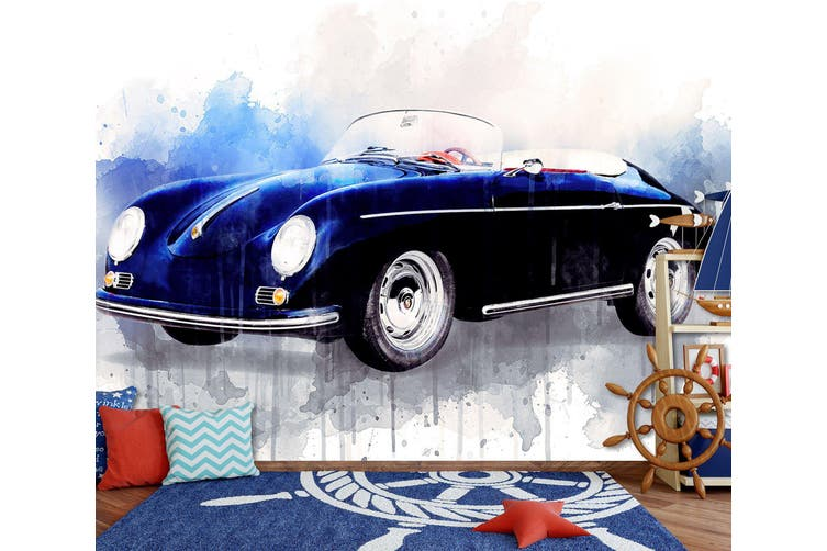 3D Watercolor Car 206 Vehicle Wall Murals Wallpaper Murals Self-adhesive Vinyl, XXL 312cm x 219cm (WxH)(123''x87'')