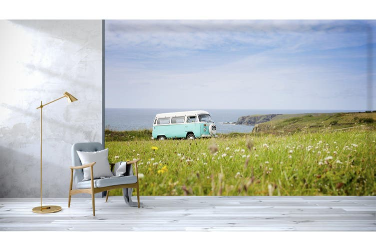 3D Prairie Bus 204 Vehicle Wall Murals Wallpaper Murals Woven paper (need glue), XXL 312cm x 219cm (WxH)(123''x87'')