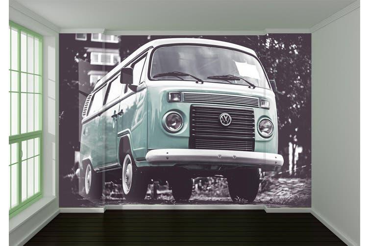 3D Green Van 203 Vehicle Wall Murals Wallpaper Murals Woven paper (need glue), XXL 312cm x 219cm (WxH)(123''x87'')