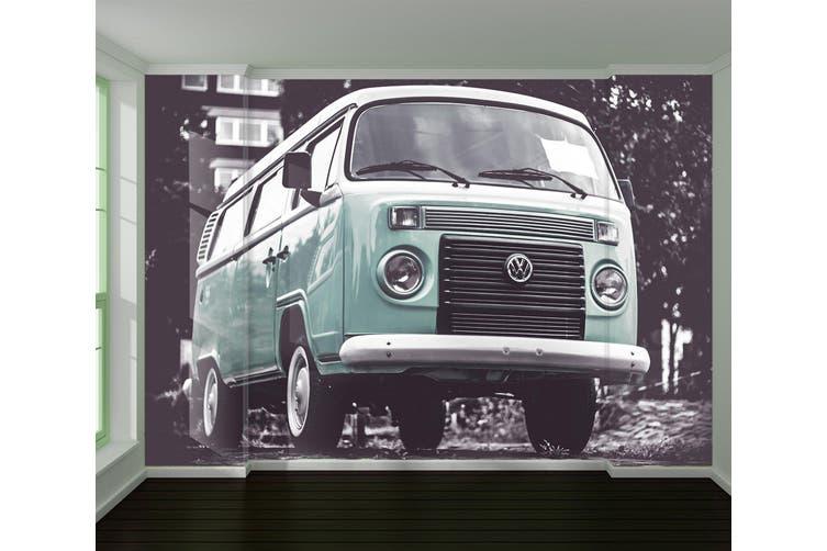 3D Green Van 203 Vehicle Wall Murals Wallpaper Murals Self-adhesive Vinyl, XXL 312cm x 219cm (WxH)(123''x87'')