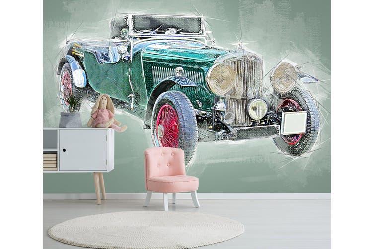 3D Blue Vehicle 200 Vehicle Wall Murals Wallpaper Murals Self-adhesive Vinyl, XXL 312cm x 219cm (WxH)(123''x87'')