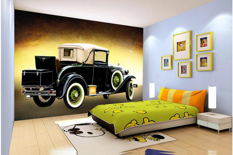 3D Retro Vehicle 198 Vehicle Wall Murals Wallpaper Murals Self-adhesive Vinyl, XL 208cm x 146cm (WxH)(82''x58'')