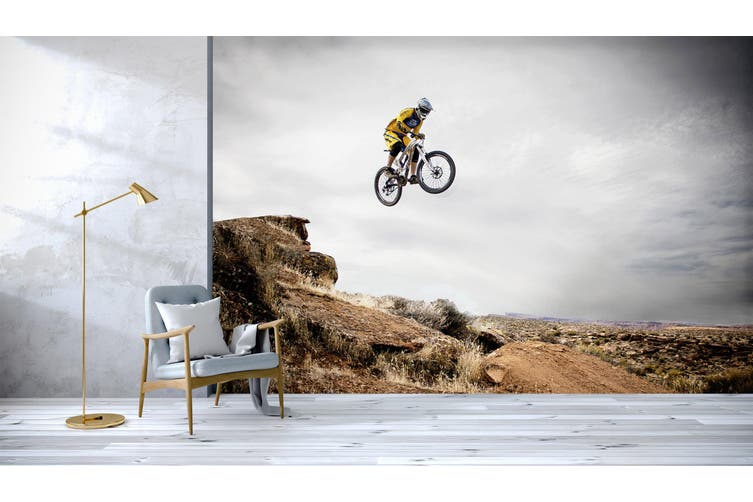 3D Cycling Utah 197 Vehicle Wall Murals Wallpaper Murals Self-adhesive Vinyl, XXL 312cm x 219cm (WxH)(123''x87'')