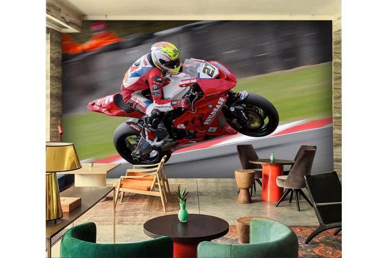 3D Superbike Racing 195 Vehicle Wall Murals Wallpaper Murals Woven paper (need glue), XXL 312cm x 219cm (WxH)(123''x87'')