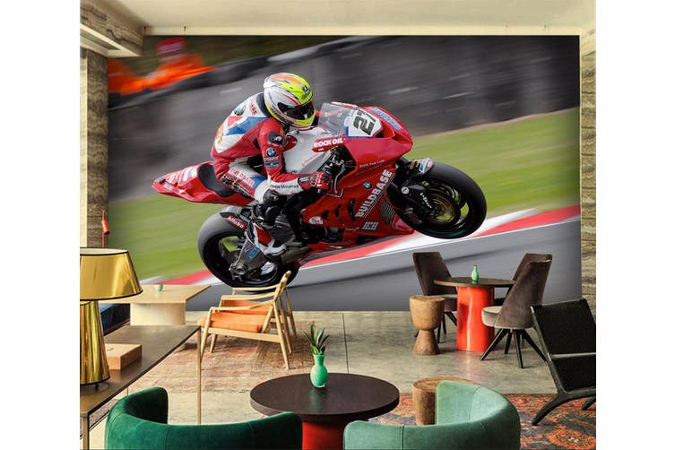 3D Superbike Racing 195 Vehicle Wall Murals Wallpaper Murals Self-adhesive Vinyl, XXL 312cm x 219cm (WxH)(123''x87'')