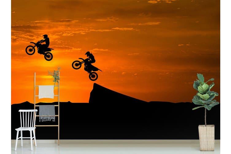3D Sunset Motorcycle 194 Vehicle Wall Murals Wallpaper Murals Woven paper (need glue), XXL 312cm x 219cm (WxH)(123''x87'')