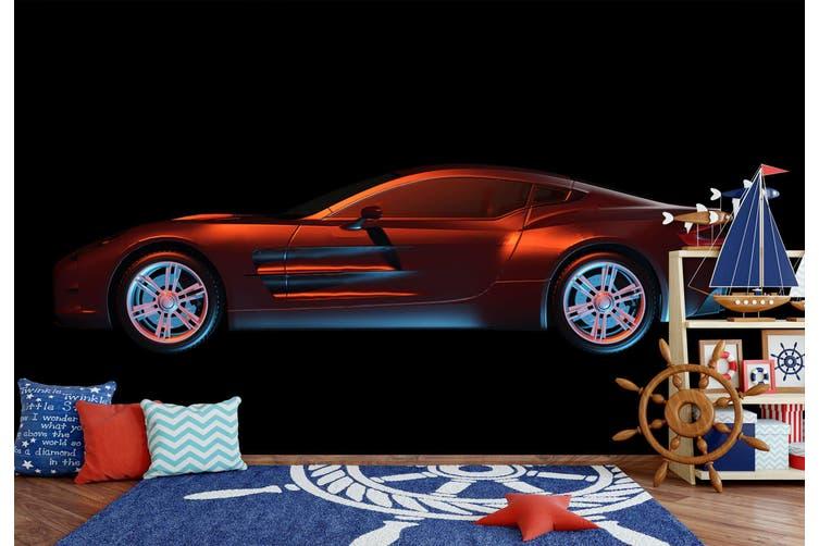 3D Red Sports Car 193 Vehicle Wall Murals Wallpaper Murals Woven paper (need glue), XXXXL 520cm x 290cm (WxH)(205''x114'')