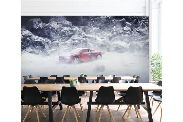 3D White Snow Car 191 Vehicle Wall Murals Wallpaper Murals Woven paper (need glue), XXXL 416cm x 254cm (WxH)(164''x100'')