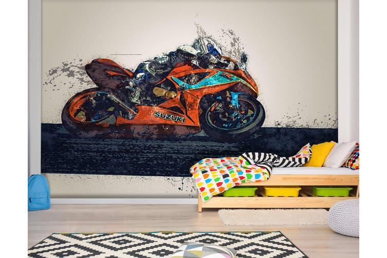 3D Painted Racing 186 Vehicle Wall Murals Wallpaper Murals Woven paper (need glue), XXL 312cm x 219cm (WxH)(123''x87'')