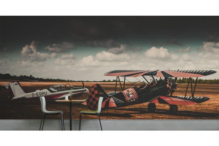 3D Panorama Aircraft 184 Vehicle Wall Murals Wallpaper Murals Self-adhesive Vinyl, XXXXL 520cm x 290cm (WxH)(205''x114'')