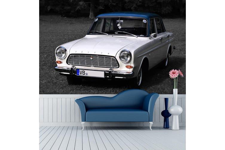 3D White Car 183 Vehicle Wall Murals Wallpaper Murals Self-adhesive Vinyl, XL 208cm x 146cm (WxH)(82''x58'')