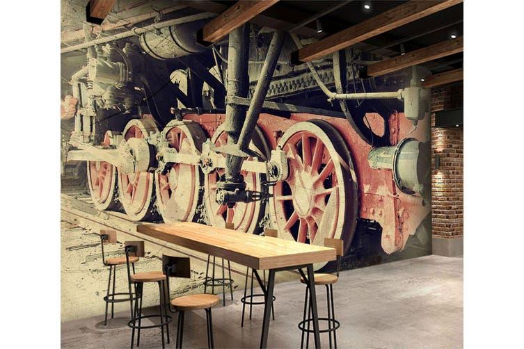 3D Vintage Train 163 Vehicle Wall Murals Wallpaper Murals Woven paper (need glue), XXXXL 520cm x 290cm (WxH)(205''x114'')