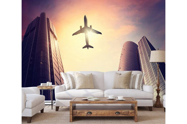 3D Building Aircraft 157 Vehicle Wall Murals Wallpaper Murals Self-adhesive Vinyl, XXXXL 520cm x 290cm (WxH)(205''x114'')