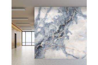 3D Blue and gray marble 20 Wall Murals Woven paper (need glue) Wallpaper Murals