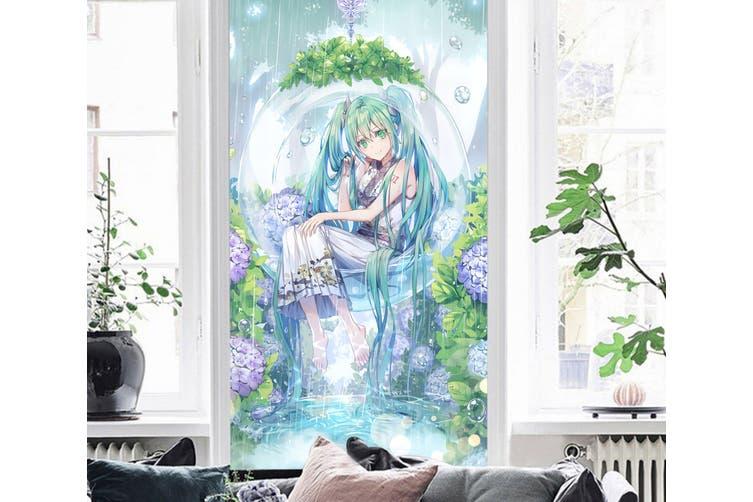 3D Hatsune Miku 158 Anime Wall Murals Woven paper (need glue), XXXL 416cm x 254cm (HxW)(164''x100'')