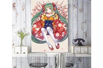 3D Hatsune Miku 155 Anime Wall Murals Woven paper (need glue), XL 208cm x 146cm (HxW)(82''x58'')