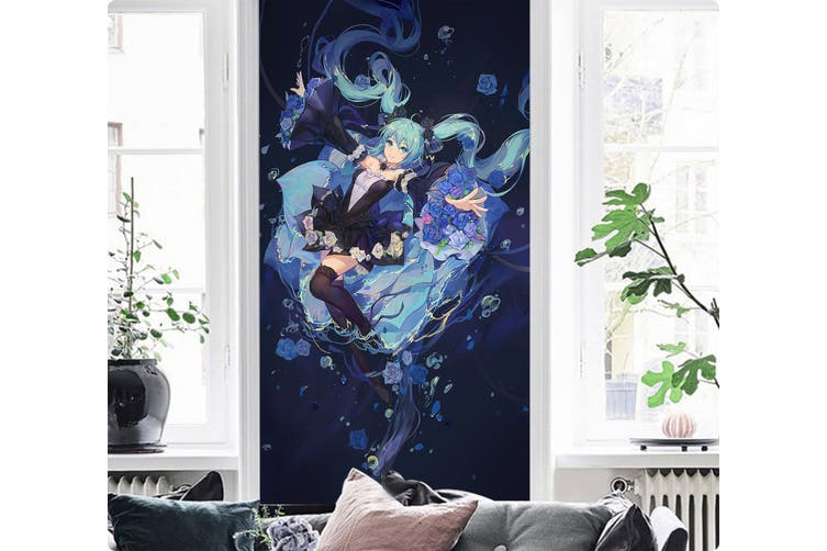 3D Hatsune Miku 154 Anime Wall Murals Woven paper (need glue), XXL 312cm x 219cm (HxW)(123''x87'')