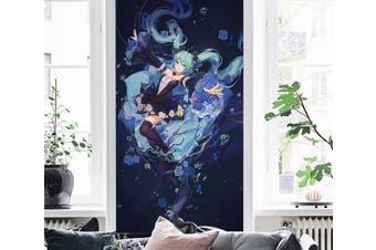 3D Hatsune Miku 154 Anime Wall Murals Woven paper (need glue), XXXL 416cm x 254cm (HxW)(164''x100'')
