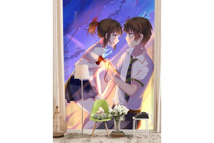 3D Your Name 108 Anime Wall Murals Woven paper (need glue), XL 208cm x 146cm (HxW)(82''x58'')