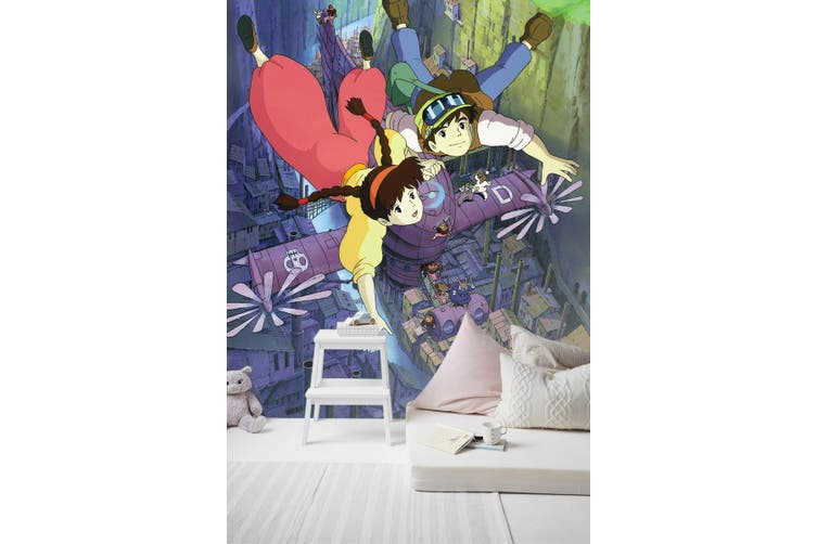 3D Castle In The Sky 098 Anime Wall Murals Woven paper (need glue), XL 208cm x 146cm (HxW)(82''x58'')
