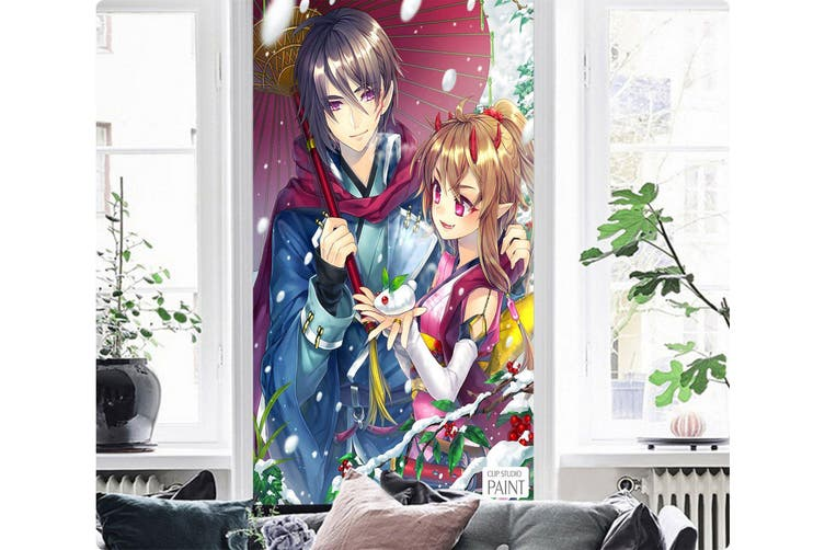 3D Romantic Umbrella 99 Anime Wall Murals Woven paper (need glue), XXXXL 520cm x 290cm (HxW)(205''x114'')