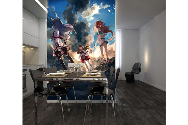 3D Kantai Collection 98 Anime Wall Murals Self-adhesive Vinyl, XXXL 416cm x 254cm (HxW)(164''x100'')