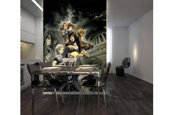 3D Night Arhat 96 Anime Wall Murals Woven paper (need glue), XXL 312cm x 219cm (HxW)(123''x87'')