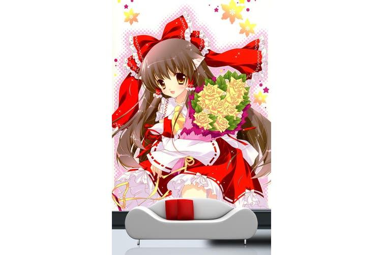 3D Boli Hug Bouquet 95 Anime Wall Murals Woven paper (need glue), XXL 312cm x 219cm (HxW)(123''x87'')