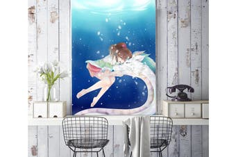 3D Snuggle White Dragon 93 Anime Wall Murals Self-adhesive Vinyl, XL 208cm x 146cm (HxW)(82''x58'')