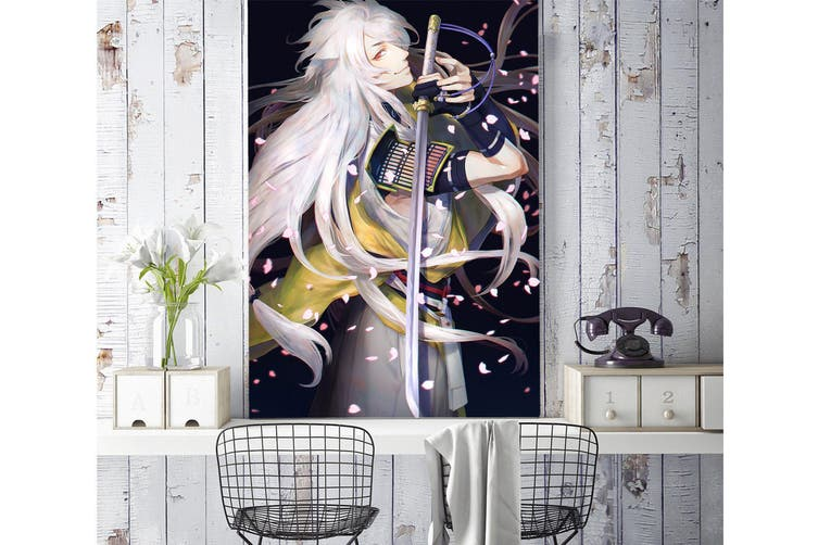 3D Petal Dance Sword 87 Anime Wall Murals Woven paper (need glue), XL 208cm x 146cm (HxW)(82''x58'')