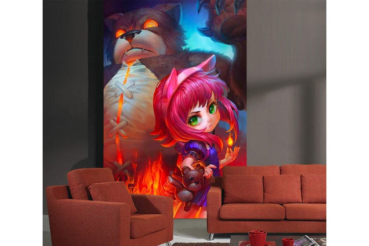 3D Horror Bear 85 Anime Wall Murals Woven paper (need glue), XL 208cm x 146cm (HxW)(82''x58'')