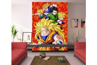 3D Lush Yellow Hair 75 Anime Wall Murals Self-adhesive Vinyl, XXL 312cm x 219cm (HxW)(123''x87'')