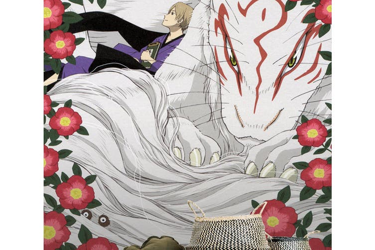 3D Natsume White Fox 73 Anime Wall Murals Woven paper (need glue), XXL 312cm x 219cm (HxW)(123''x87'')