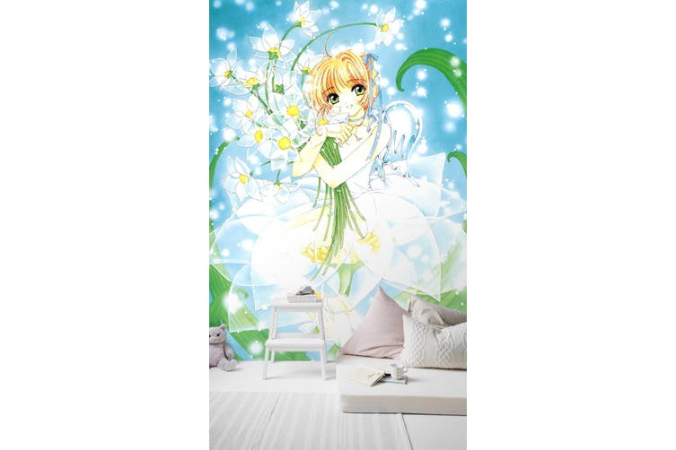 3D Magic Card Hug Flower 71 Anime Wall Murals Woven paper (need glue), XL 208cm x 146cm (HxW)(82''x58'')