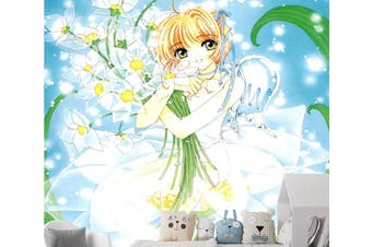 3D Magic Card Hug Flower 71 Anime Wall Murals Self-adhesive Vinyl, XXL 312cm x 219cm (HxW)(123''x87'')