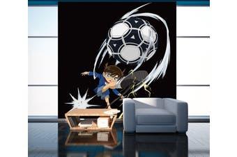 3D Conan Playing Football 1 Anime Wall Murals Woven paper (need glue), XXL 312cm x 219cm (HxW)(123''x87'')