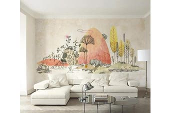3D Forest Animals WC095 Wall Murals Woven paper (need glue) Wallpaper Murals
