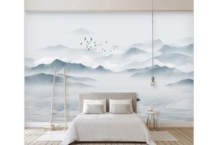 3D Misty Valley 973 Wall Murals Woven paper (need glue), XXXXL 520cm x 290cm (WxH)(205''x114'')