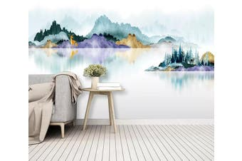 3D Colored Landscape 969 Wall Murals Self-adhesive Vinyl, XL 208cm x 146cm (WxH)(82''x58'')