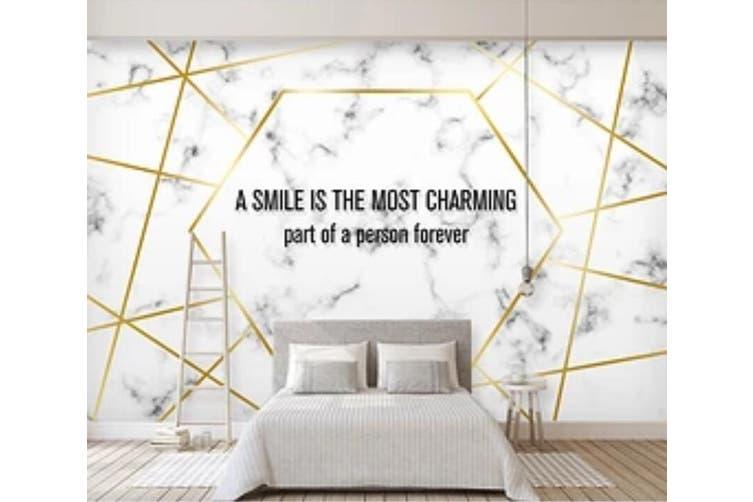 3D Golden Lines 968 Wall Murals Woven paper (need glue), XL 208cm x 146cm (WxH)(82''x58'')