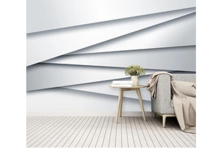 3D White Straight Line 966 Wall Murals Woven paper (need glue), XL 208cm x 146cm (WxH)(82''x58'')
