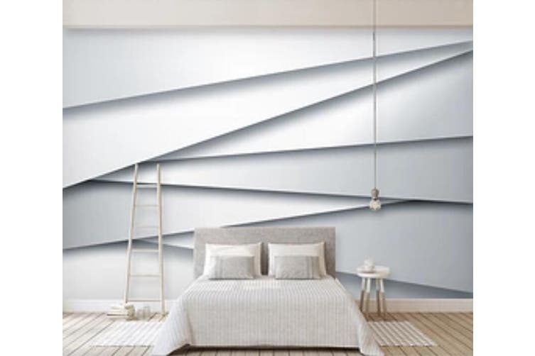 3D White Straight Line 966 Wall Murals Self-adhesive Vinyl, XL 208cm x 146cm (WxH)(82''x58'')