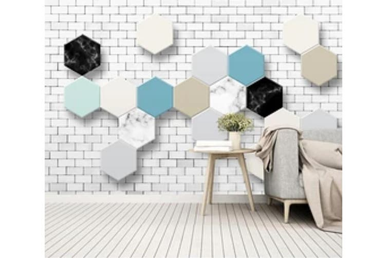 3D Colored Diamond 965 Wall Murals Woven paper (need glue), XL 208cm x 146cm (WxH)(82''x58'')