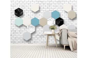 3D Colored Diamond 965 Wall Murals Woven paper (need glue), XXXL 416cm x 254cm (WxH)(164''x100'')