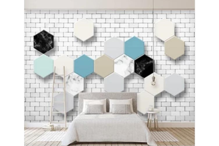 3D Colored Diamond 965 Wall Murals Self-adhesive Vinyl, XXXXL 520cm x 290cm (WxH)(205''x114'')