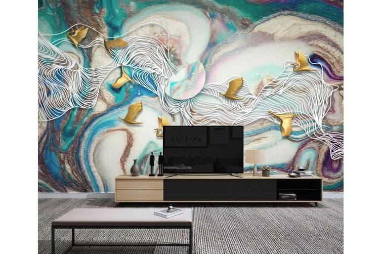 3D Color Graffiti 964 Wall Murals Woven paper (need glue), XXXL 416cm x 254cm (WxH)(164''x100'')